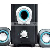 home theater computer mini system active wireless system DVD player pc speakers wood
