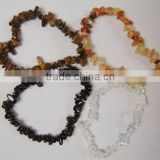 Hot seller gemstone bracelet black agate chips bracelet jewelry beads