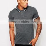 Two Colour Tipping Breathable Cotton Pique Polo Of Shirt Men Short Sleeve Muscle Polo T Shirts