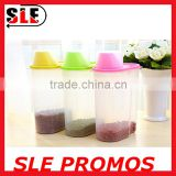 Stocked Wholesale Plastic Food Container,Hot Sale Top Quality Promotional Food Jar,Airtight Rice Storage With Measurement Cup
