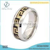 Trendy titanium steel ring for men,custom titanium silver jewelry