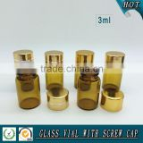3ml Amber Glass vial with Reducer plug and aluminum cap