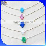 Many Colors!!! Wholesale 925 Sterling Silver Hamsa Hand Charm/Opal Gemstone Hamsa Hand Shape Opal Pendant Charm                                                                         Quality Choice