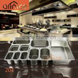 Wholesale stainless steel 201and 304 food container set /warmer buffet serving plate /food pan with lid