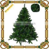 Wholesale artificial handmade pvc christmas tree/mixed leaves hooked Christmas tree