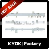 KYOK wholesale modern curtain rail track, good quality plastic curtain track sliders, hospital medical curtain track