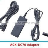 Universal Travel Adaptor For ACK-DC70,Lcd Display For Canon 3000 ACK-DC70 AC Power Adapter