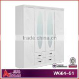 W664-51 Italian wardrobe laminate designs for bedroom