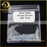 zuanfa wholesale 1mm-3mm good quality london blue gemstones natural blue topaz