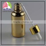 trade assurance High quality glass 15ml 30ml 50ml ball round shape glass essential oil dropper bottle