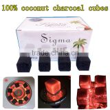 100% coconut charcoal cubes for shisha hookah coal sigma factory directly
