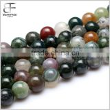 Indian Agate Gemstone Loose Beads Strand Natural Round Crystal Energy Stone Healing Power for Jewelry Making