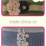 newest style knitted baby bliss crochet hair band with flower