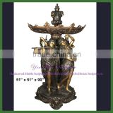 Large Outdoor Bronze Lady Water Fountain