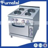 Restaurant And Hotel Commercial Electric French Hot Plate Cooker With Oven 4-Plate Cooker With Oven