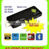 MK809III Bluetooth Android Mini PC,Quad Core Rockchip RK3188T 2G/8G Android 4.4 Android TV Dongle
