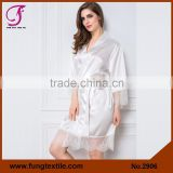 Fung 2906 Women Silk Lace Robe