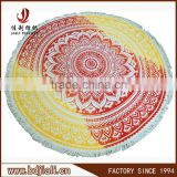 Manufacture China custom printed round beach towel with tassel                                                                         Quality Choice