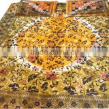 RTBS-7 Beautiful Designer Printed Queen Size Royal Looking Bedsheet / Bed Spread Home Beddings set From Jaipur