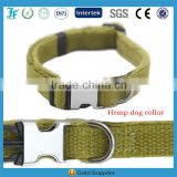 LF Hemp Dog Collar High Quality Metal Buckle Collars