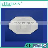 Medical disposable sterile transparent waterproof medical burn wound dressing with absorbent pad