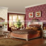 High quality living room 3d foaming luxury light color non woven natural material wallpaper