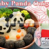 japanese kitchenware rice tools silicone mat rice ball onigiri molds set bento lunch utensil gift baby panda set 76053