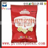 laminated foil custom logo popcorn bags black matte biodegradable food packaging popcorn packaging bags