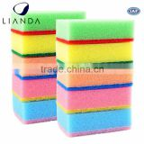 Efficient Cleaning Sponge Pad, Custom Polybag Package Abrasive Cleaning Glove Grab Scouring Pad For Dish