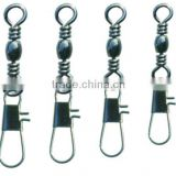 high quality barrel fishing swivel with interlock snap