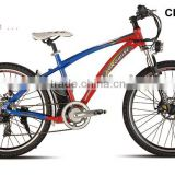 "New Year promotion 26""electric mountain bike pedelec bicycle SHIMANO 7 SPEED motor bicycle with 36V 10 Li-ion battery"
