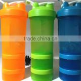 2016 Hot Sale Eco-Friendly Plastic infuse water mug joyshaker shaker blank protein water bottle