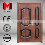 YIJIA cheap mother and son door, heat transfer mother and son door, cheap exterior steel door YJRH17