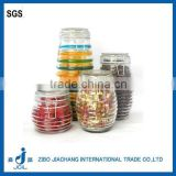 clear airtight glass jar ring seal with metal clamp lid 1liter storage canister