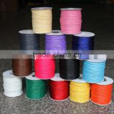 Factory Wholesale Multicolor Korea style jewelry wax cotton cord strings in rolls 1.0mm 1.5mm 2mm