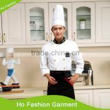 White customized with good quality double breasted salad chef set