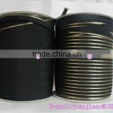 Piping Tape custom gold& black polyester stripe satin ribbons
