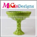China Production Green Porcelain Tray Latest Wedding Decoration jewelry cup designs ceramic jewelry display