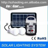 IS-1399S portable small Cheap high efficiency china 3w 5W 10W off grid solar system lamp