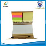 Popular kraft paper cover sticky notes book with eco pen