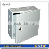 Precision sheet metal box with hinged cover