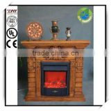 42 Inches wood color fiber clay freestanding electric fireplace