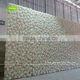 GNW 20ft stage decoration backdrop design for weddings with silk rose,hydrangea and orchid flower wall