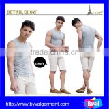 OEM plain vest men pure color cotton vest tank top made in China/Factory direct tank top