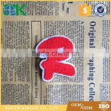 Alphabet Letter R Patch Uniform Embroidered Patch Sew Iron on Badge Applique Red letter towel patch