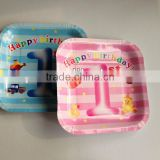 bamboo fiber paper plate /disposable plate for cakes