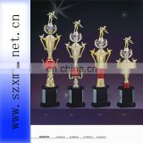2013 plastic sports trophy with wooden base