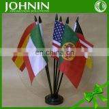"Euro cup 2016 Oem 4X6"" polyester print desk table all country flags"