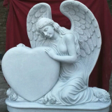 Graveside Angel Cameo Granite monument Memorial Granite headstone Granite tombstone book shape tombstone