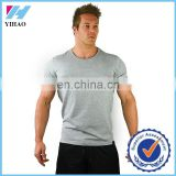 Trade Assurance 2016 Yihao Mens Custom Gym fitness Print Clothing Tee shirt Blank bodybuilding muscle tee mens gym t-shirt men